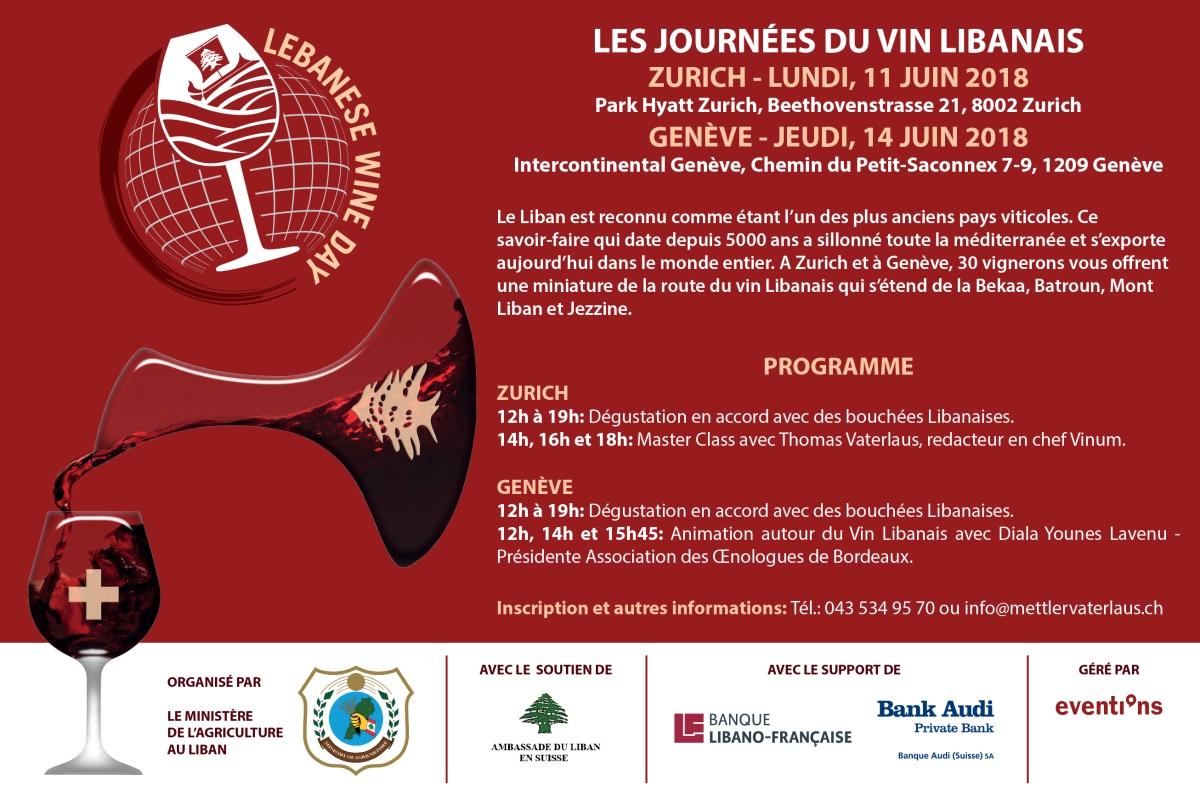 Les Journées du vin Libanais en Suisse