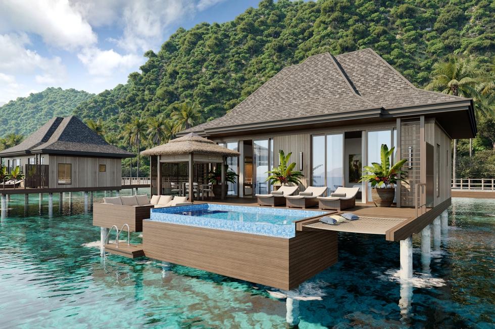 El Nido Beach Spa & Resort over-water suite exterior (2)