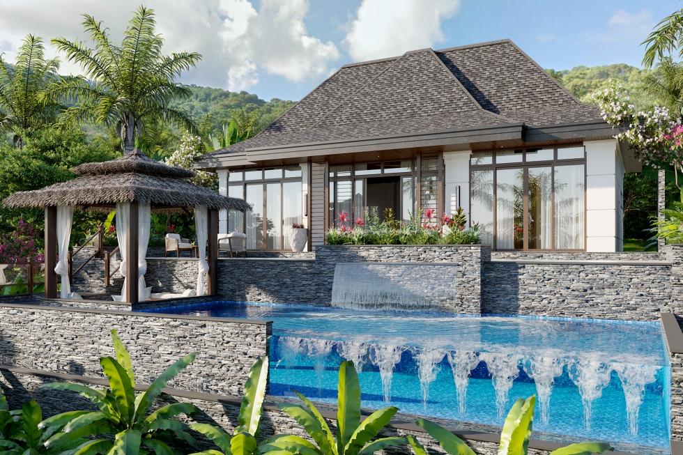 El Nido Beach Spa & Resort two bedroom ocean view villa exterior
