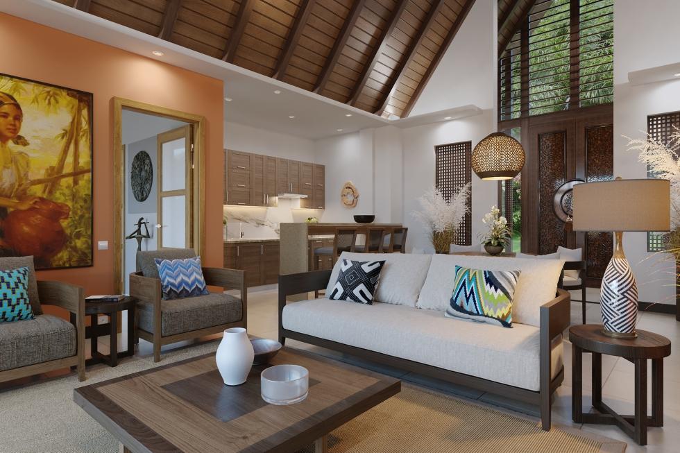 El Nido Beach Spa & Resort two bedroom ocean view villa interior (1)